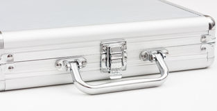Metal briefcase  Stock Images