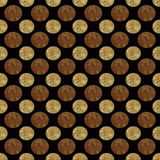 Metal Bronze and Gold Seamless Repeating Pattern Stock Photo