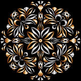 Metal-Bronze pattern. Metal and Bronze pattern on the black background Stock Photo