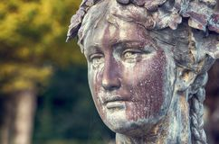 Woman`s head sculpture Royalty Free Stock Image