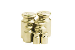 Metal bronze weight isolated Stock Images