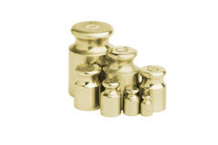 Metal bronze weight isolated Stock Photos