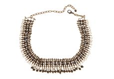 Metal brown necklace. Stock Photos