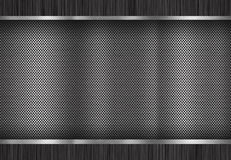 Metal brushed background, perforated metal surface Stock Images