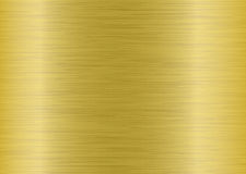 Metal brushed elongate gold Stock Image