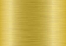Metal brushed elongate gold Stock Image