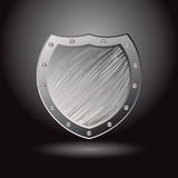 Metal brushed shield secure Stock Images