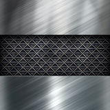 Metal brushed shiny surface for texture Stock Photography