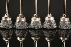 Metal brushes Royalty Free Stock Photography
