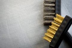 Metal brushes Stock Photo