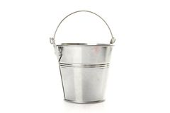 Metal bucket Royalty Free Stock Image