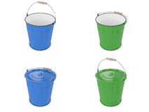 Metal bucket Royalty Free Stock Photography