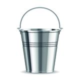 Metal bucket. With handle on a white background. vector illustration Stock Image