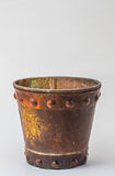 Metal bucket on background. Royalty Free Stock Images