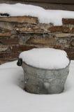 Metal bucket Royalty Free Stock Image