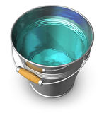 Metal Bucket Full Of Clear Water Stock Photos