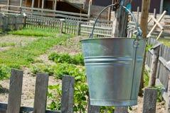 Metal bucket Stock Images