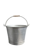 Metal bucket. Old metal bucket isolated on white background Royalty Free Stock Photo