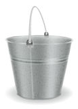 Metal bucket Royalty Free Stock Images