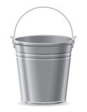 Metal bucket vector illustration Royalty Free Stock Images