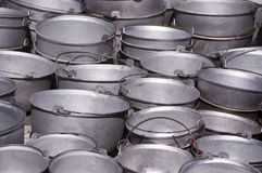Metal buckets Stock Image