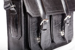 Metal buckle clasp on briefcase Royalty Free Stock Photo