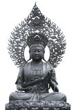 Metal buddha statue in Chinese temple Royalty Free Stock Photo