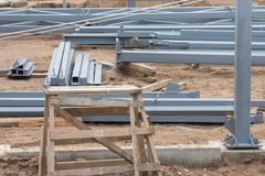 Metal building construct site Royalty Free Stock Photo