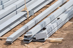 Metal building construct site Royalty Free Stock Images