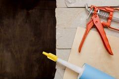 Metal Building Contractors Caulking Gun Tool Royalty Free Stock Image