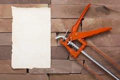 Metal Building Contractors Caulking Gun Tool Stock Photo