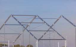 Metal Building Frame Stock Photography