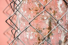 Metal building mesh. Industrial background with metal building mesh Stock Images