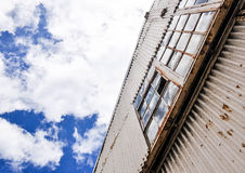 Metal Building Perspective Royalty Free Stock Images
