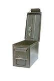 Metal bullet box Royalty Free Stock Images