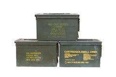 Metal bullet box Royalty Free Stock Photo