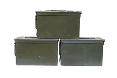 Metal bullet box Royalty Free Stock Photography