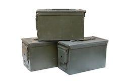 Metal bullet box Stock Image