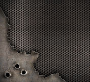 Metal with bullet holes background Royalty Free Stock Photos