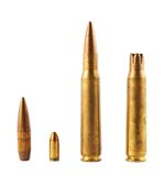 Metal bullet isolated Stock Photo