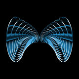 Metal butterfly. Wings Stock Images