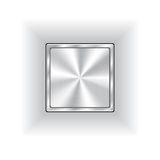 Metal button. For various use Royalty Free Stock Photo
