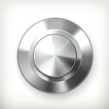 Metal button. сomputer illustration on white background Stock Images