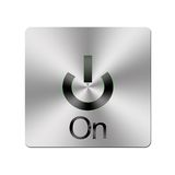Metal On button. stock illustration