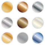 Metal Buttons stock illustration