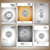 Metal buttons. Brochure, flyer or report for Royalty Free Stock Photo