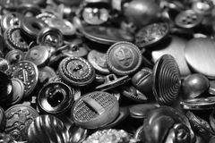 Metal Buttons Stock Photography