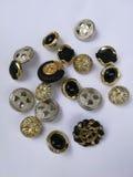 Metal buttons Stock Photos
