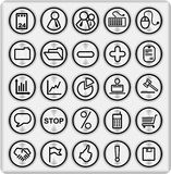 Metal Buttons (set4,part1) Royalty Free Stock Images
