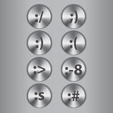 Metal buttons with smiles Stock Images